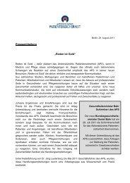 Pressemitteilung des APS zur Vorstellung der neuen Broschüre