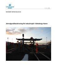 Järnvägsnätbeskrivning för industrispår i Göteborgs Hamn