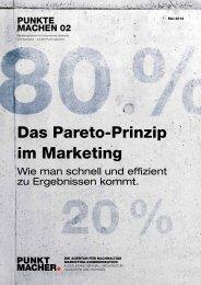 Das Pareto-Prinzip im marketing - Punktmacher GmbH