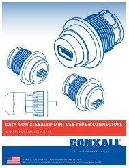 data-con-x™: sealed mini-usb type b connectors - Switchcraft