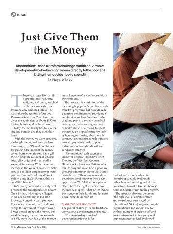 Just Give Them the Money - Development Asia Issue No. 7