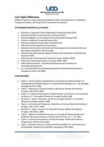 Luis Tapia Villanueva - Facultad de Psicología UDD - Universidad ...