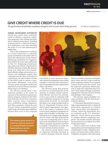 GivE CREdit WhERE CREdit is duE - Harvard Law School