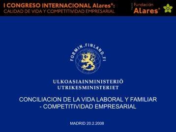 conciliacion de la vida laboral y familiar - competitividad ... - Alares