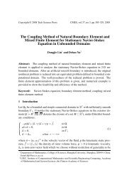 The Coupling Method of Natural Boundary Element and Mixed Finite ...