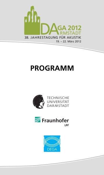 PROGRAMM - DAGA 2012