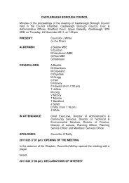 Council Minute 24 November 2011 - Castlereagh Borough Council