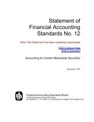 FASB: Status of Statement 12 - Paper Audit & Conseil