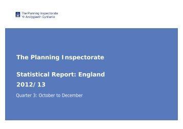Quarter 3 - Oct to Dec 2012 - Planning Portal