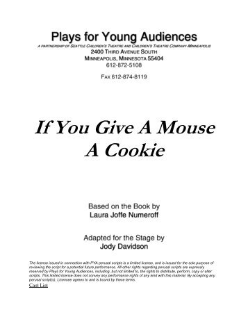 If You Give A Mouse A Cookie - Plays for Young Audiences