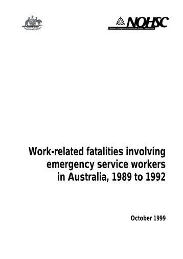 Work-related fatalities involving emergency service workers in ...