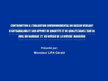 LE COMPLEXE BASSIN - VERSANT - Master Économie Appliquée