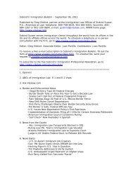Siskind's Immigration Bulletin – September 09 ... - Siskind, Susser