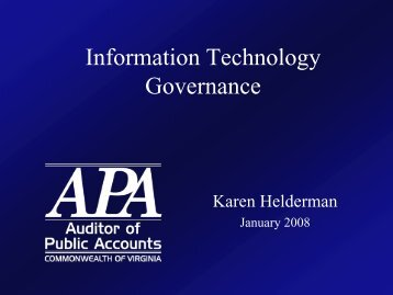 APA Reports on Information Technology
