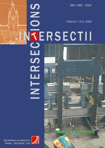"No.3r Mecanica structurilor - ""Intersections"" International Journal"
