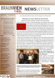 Ausgabe September 7/2012 - Braunvieh Tirol