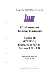 IT Infrastructure Technical Framework Volume 2b (ITI TF-2b ... - IHE