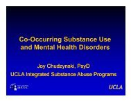 Co-Occurring Substance Use and Mental Health Disorders - UCLA ...