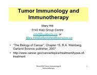 Tumor Immunology and Immunotherapy