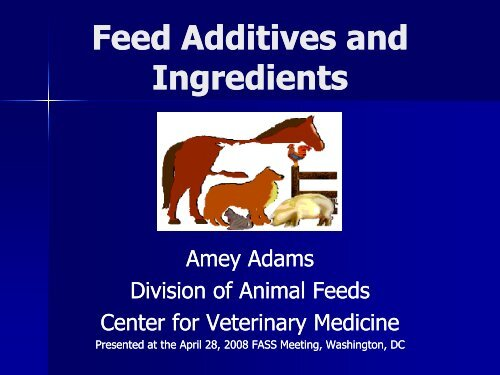 Feed Ingredient (Additive) - Federation of Animal Science Societies