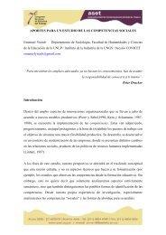 Aportes para un estudio de las competencias sociales - ASET
