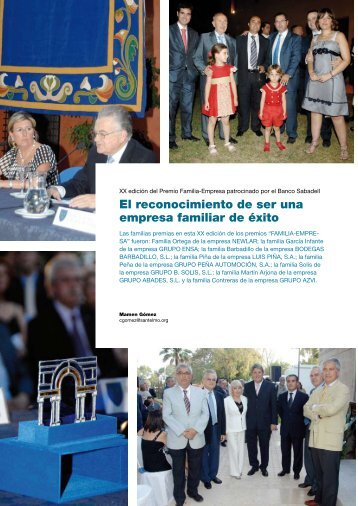 El reconocimiento de ser una empresa familiar de éxito - Instituto ...
