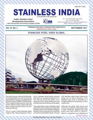 September 2011 (PDF format 670 KB) - Indian Stainless Steel ...
