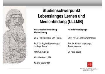 Studienschwerpunkt Lebenslanges Lernen und Medienbildung ...