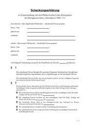 Schenkungserklärung § 1 § 2 - KGV-Herrenhorst1988e.V.