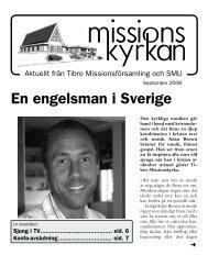 En engelsman i Sverige - Missionskyrkan Tibro