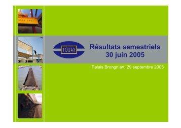 Réunion SFAF du 29 septembre 2005 sur les comptes ... - touax group