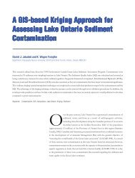 A GIS-based Kriging Approach for Assessing Lake Ontario Sediment ...