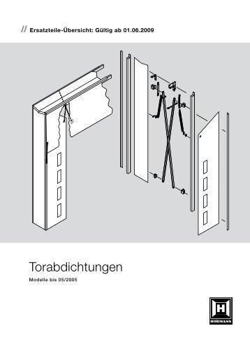 Torabdichtungen Modelle bis 05 2005 - Hörmann KG