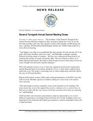 NEWS RELEASE - Nunavut Tunngavik Inc.