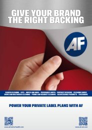 gIVE YOUR BRANd THE RIgHT BACKINg - AF International