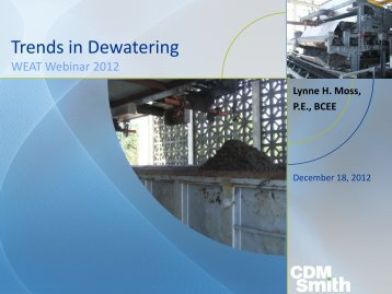 Trends in Dewatering Technologies
