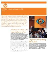 HP TRIM Meeting Manager module Data sheet - Zift Solutions