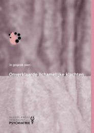NVvP Onverklaarde lichamelijke klachten (PDF ... - GGZ inGeest