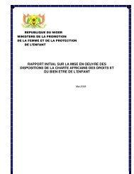 rapport initial sur la mise en oeuvre des dispositions de la charte ...