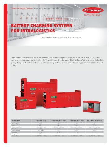 BATTERY CHARGING SYSTEMS FOR INTRALOGISTICS - Ambitex