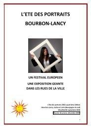 L'ETE DES PORTRAITS BOURBON-LANCY - Applications services