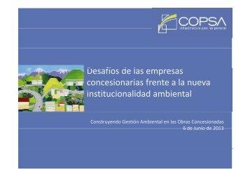 Desafíos de las empresas concesionarias (COPSA)