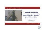 """Rolle der Ã""""rzteschaft in den Zeiten des Wandels - Ã""""rztekammer Berlin"""