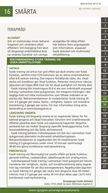 Rekommendationer och terapiråd - Vgregion.se