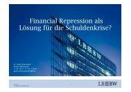 III. Financial Repression als Lösung für die Schuldenkrise ...