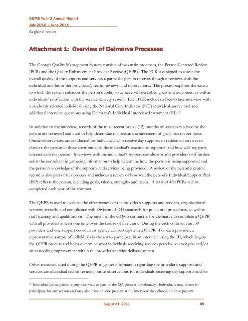 Georgia Quality Management System - Department of Behavioral ...