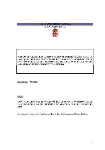 1 PLIEGO CLÁUSULAS ADMINISTRATIVAS PARTICULARES ...