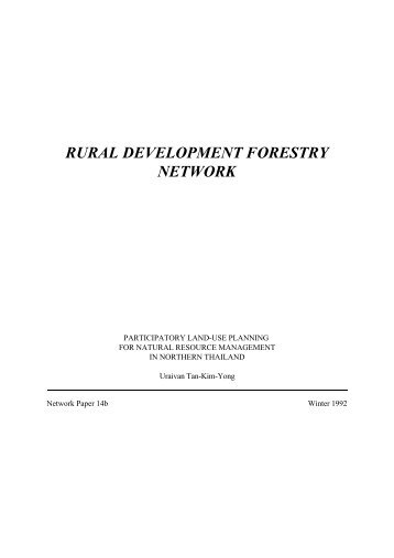 Participatory Land Use Planning for Natural Resource Management ...