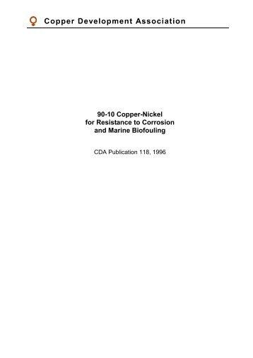 Pub 118 90/10 Copper-Nickel - Copper Development Association