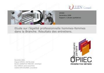 Etude sur l'égalité professionnelle hommes ... - Syntec ingenierie